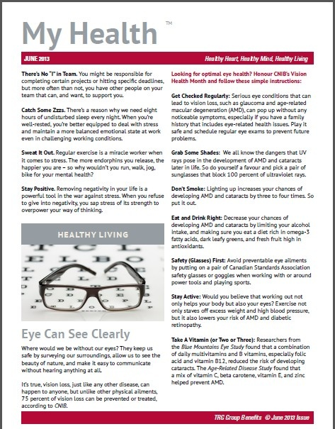 Your Health - Your Eyes TRG Group Benefits