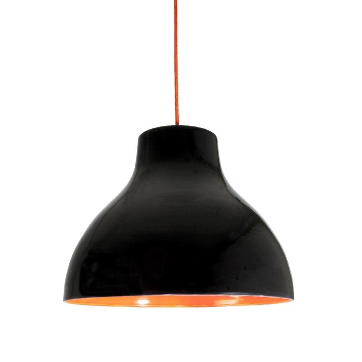 ljusinspiration Bert svart/orange