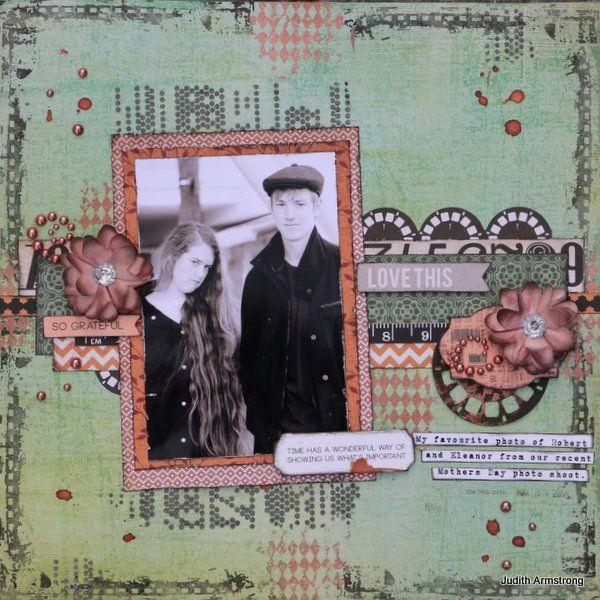 Created by Judith Armstrong using Kaisercraft Mr Fox, FWAB, Viva Decor Ferro paste.