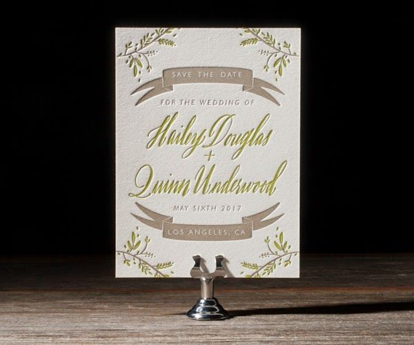 Rustic Thicket by Bella Figura #letterpress #wedding save the date availabe at www.loveply.com   PLY: The Ultimate Paper Blog