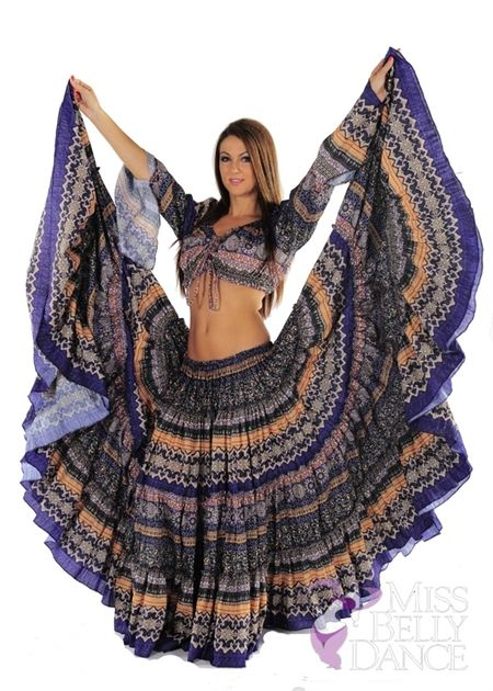 """I want this bellydance outfit. Belly Dance Design 25"""" Skirt"""