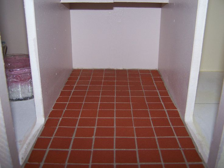 Quarry tiles laid in kitchen my doll 39 s house pinterest for Kitchen quarry tile