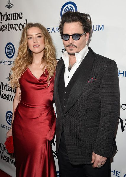 Amber Heard and husband Johnny Depp attend Vivienne Westwood & Andreas Kronthaler's 2016 HEAVEN Gala.