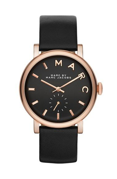 MARC BY MARC JACOBS 'Baker' Leather Strap Watch, 37mm (Nordstrom Exclusive) | Nordstrom