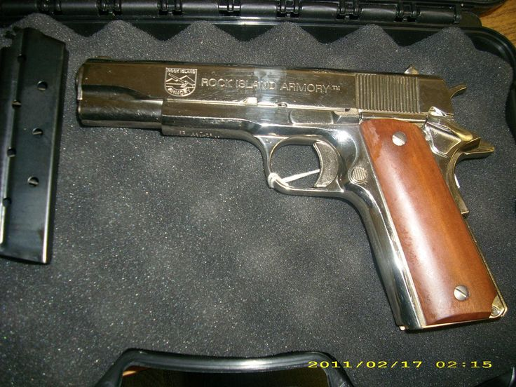 Rock Island Armory 1911 38 Super Pistol Nickel Plated for  (mom)