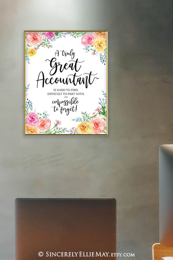 Accountant Office Decor Accountant Gifts Wall Art Gift Printable Wall Art