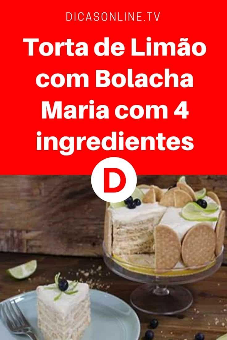 Torta de limao com bolacha | Torta de Limão com Bolocha Maria com 4 ingredientes | A sobremesa favorita!