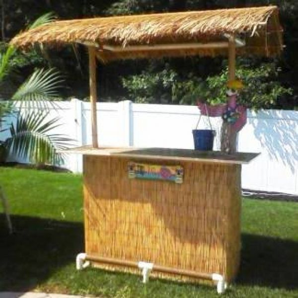 Tiki bar party city diy home decorating redue old for Homemade tiki bar pics
