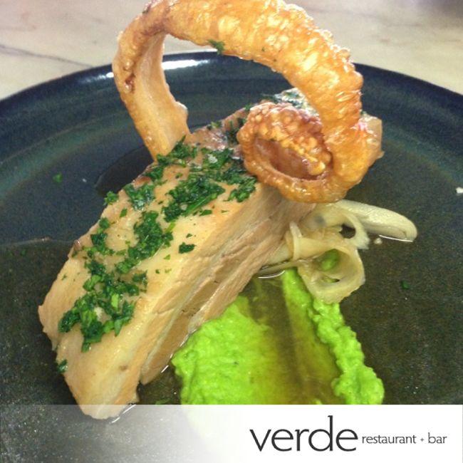 A special at Verde,Braised Wessex Saddleback Pork Belly.