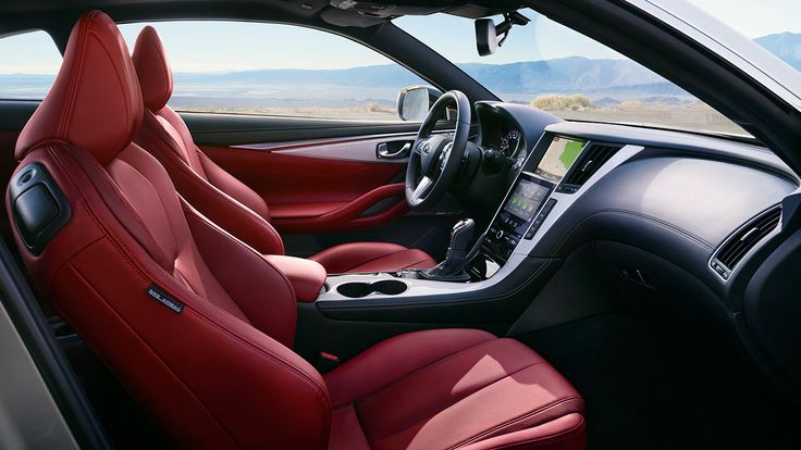 2017 Infiniti Q60 luxury sports coupe interior in red | Infiniti USA