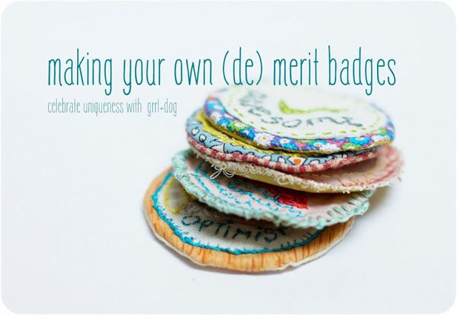 stich your (de) merit badge tutorial by grrl+dog