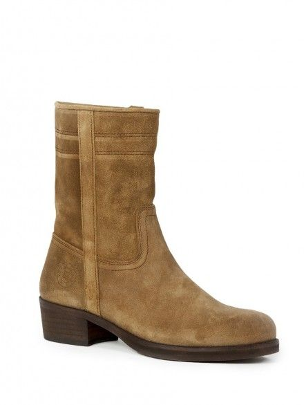 ANDALUXX Dark beige suede ankle boots