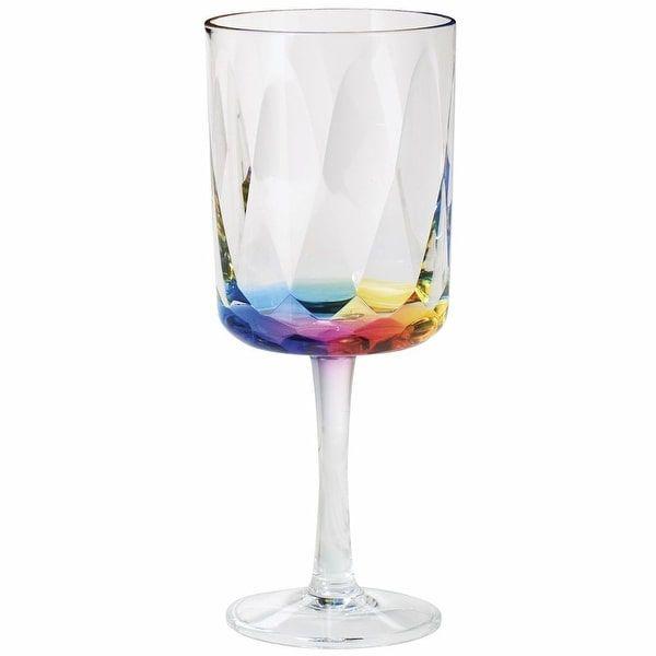 Merritt Rainbow Prism 16 Oz Acrylic Wine Glasses