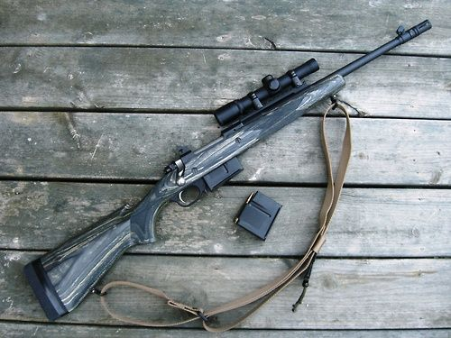 """Ruger Scout Rifle by rodteague. Jeff Cooper popularized the """"scout rifle"""" concept. A scout rifle is a bolt-action rifle of not more than 7 lbs. unloaded weight, not more than one meter in overall length, and have a common medium-power caliber like the .308 Winchester. Basically, it's a rifle that's powerful, yet compact and lightweight. It is a general purpose weapon suitable for hunting or defense."""