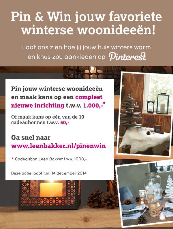 Pin jouw winterse woonideeën en maak kans op een metamorfose t.w.v. €1000,-!