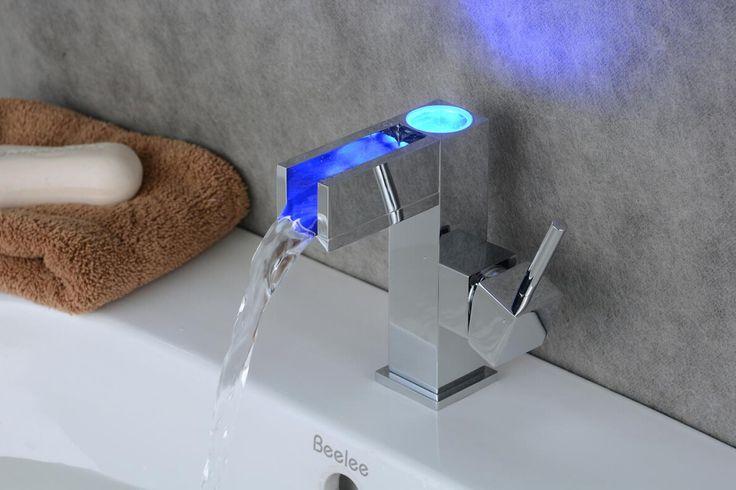 Contemporary Chrome Color Changing LED Bathroom Sink Faucet RB0615AF http://www.robinetshop.com/contemporary-chrome-color-changing-led-bathroom-sink-faucet-rb0615af-p-689.html