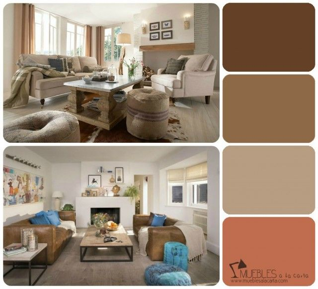 17 mejores ideas sobre paredes de color marr n en for Colores pintura paredes interiores casa