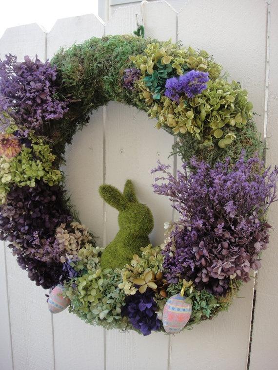 Easter Bunny Wreath   Moss Wreath