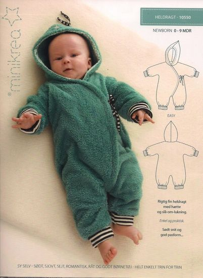 Patroon babypak van Minikra - bambiblauw