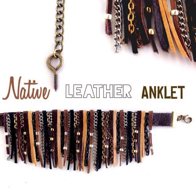 Native leather Anklet for boots!
