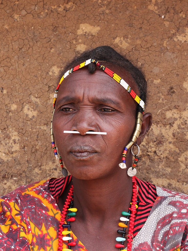 Africa Portrait Taken In Iwol Village From Her At The