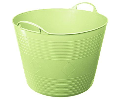 Flexi Tub Tragekorb Gartenkorb W�schekorb Spielzeugeimer 40 Liter limette rund
