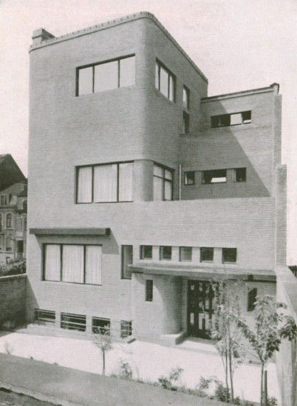 Henry Van de Velde, Maison Wolfers 1929 (60 avenue Alphonse Renard) Bruxelles, Belgium Art #Deco style