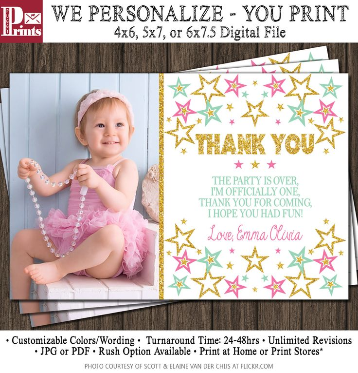 Best Birthday thank you ideas – First Birthday Thank You Cards