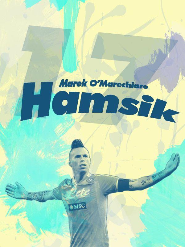 Marek Hamšík (born 27 July 1987) is a Slovak footballer who plays as a midfielder for Serie A club Napoli and the Slovakia national team. He captained Slovakia at the 2010 FIFA World Cup, its first ever major tournament as an independent nation. Marek Hamšík ([ˈmarɛk ˈɦamʃiːk]; Banská Bystrica, 27 luglio 1987) è un calciatore slovacco, centrocampista del Napoli e della Nazionale slovacca, della quale è capitano.