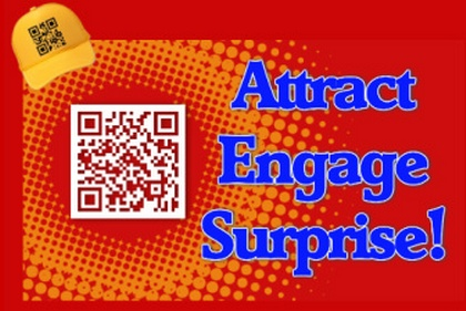 QR codes have a culture of their own... they are designed to attract attention, then engage with helpful information and finally reward the scanner with something special - like a discount or bonus! (Sample only)