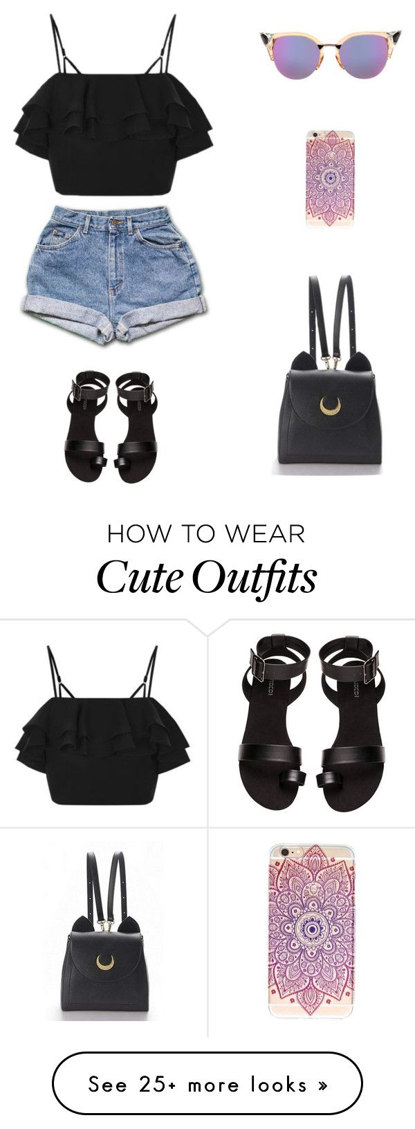 """Cute outfit"" by snhollick on Polyvore featuring Topshop, Fendi and H&M"