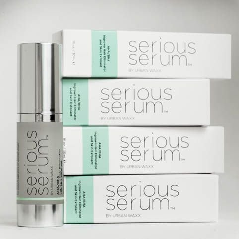 Serious Serum was developed for post waxing use to alleviate ingrown hairs, blast breakouts and minimize redness. However, Conley happily discovered that the combination of facial grade AHAs and green tea, aloe vera and chamomile work perfectly to smooth bumpy, rough skin everywhere!
