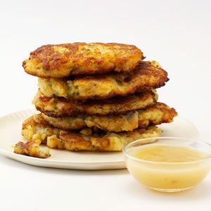 Crispy Mashed Potato & Stuffing Patties Recipe from Taste of Home -- shared by Kellie Ferea of Casa Grande, Arizona