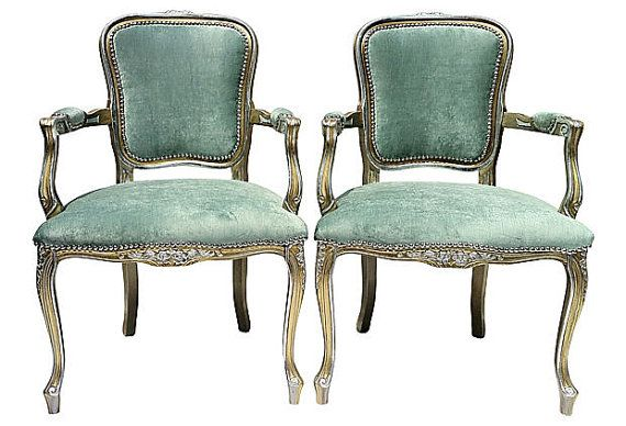 gilded 24k gold silver french fauteuils bergere upholstered chairs ve. Black Bedroom Furniture Sets. Home Design Ideas