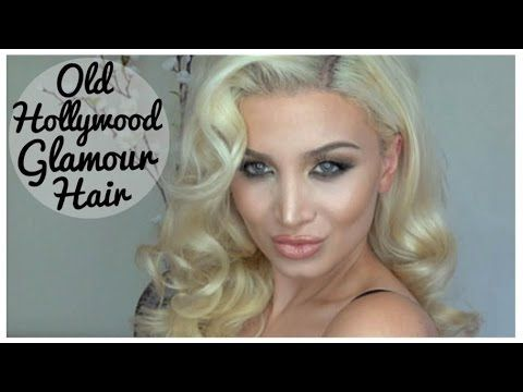 Old Hollywood Glamour Hair Tutorial (EASY) Inspired by Kim Kardashian