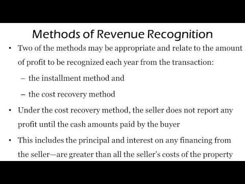 sales basis method of revenue recognition The general sales basis is that known or determinable revenues and inability to determine costs defer expense recognition until sale5 recognize at the point of cash collection exception 3: an example of a method used for revenue recognized at cash collection basis is the installment and recovery method.