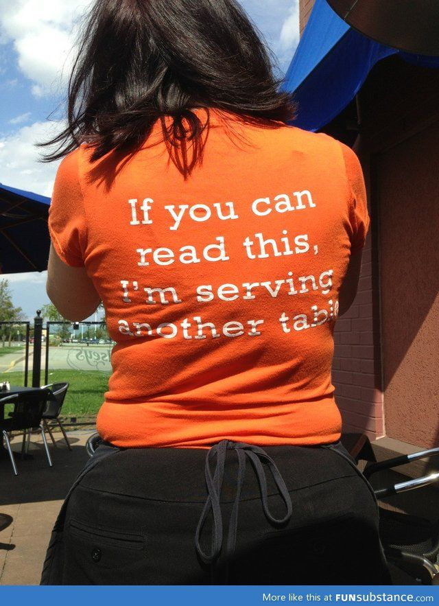 restaurant server cover letter%0A This was our servers shirt