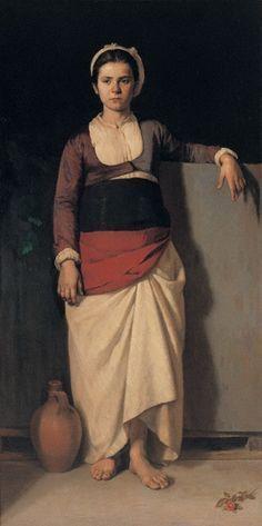 Νικόλαος Βώκος-Χωριατοπούλα ή νεαρή Ελληνίδα (Εθνική πινακοθήκη)