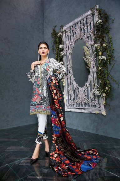 4b314db078 Gul Ahmed Summer Embroidered Lawn Dresses Collection 2019 | african ...