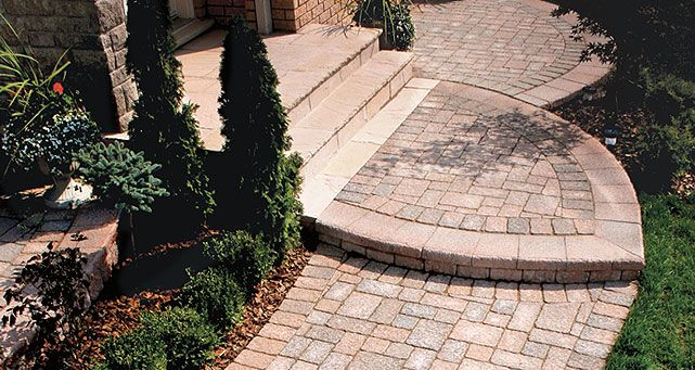 Realize your landscaping dreams with the Adora interlocking paver. The unique features of this interlocking paver was specifically designed for dramatic, yet understated elegance. It's chiseled surface and random appearing edges gives your landscape that refined elegant look.