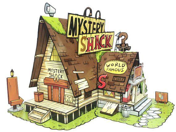 En La Cabana Del Misterio De La Gravedad Cae Tantos Detalles Que Enc Gravity Falls Un Verano De Misterio Cumpleanos De Granja Decoracion La Cabana Del Misterio