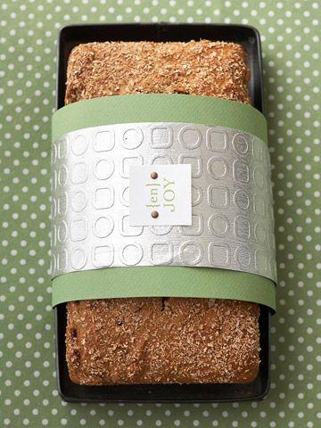 Paper Cuff for Quick Bread & Wheat Apple Nut Bread recipe.