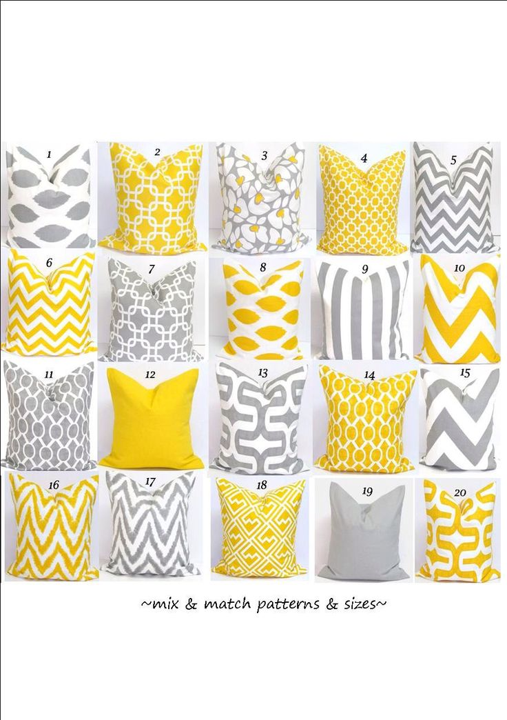 Gray.Yellow Pillows.ALL SIZES.Decorative Pillow Covers.Home Decor.Housewares.Grey.Yellow.Pillows..Cushions.Home Decor.Large.Small Pillows by ElemenOPillows on Etsy https://www.etsy.com/listing/163896207/grayyellow-pillowsall-sizesdecorative