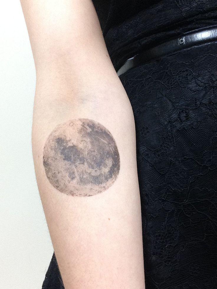 full moon tattoo   Star tattoos, Celestial tattoo, Forearm tattoos