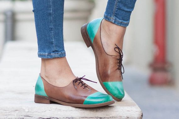 Women Leather Shoes, Leather Oxfords, Oxford #clothing #shoes #women @EtsyMktgTool http://etsy.me/2jFgpgv