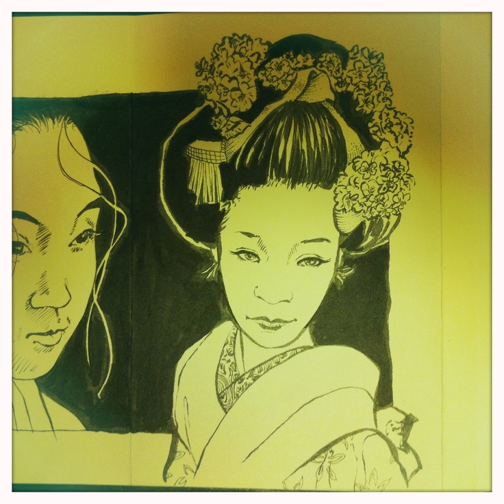 Sketch of Geisha