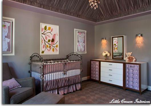 purple & gray nursery: Babies, Babygirl, Nurseries, Baby Girl, Nursery Ideas, Baby Room, Baby Nursery, Baby Stuff, Kid