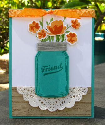 Krystal's Cards: Stampin' Up! Jar of Love Friend #stampinup #krystals_cards #jaroflove #onlinecardclass