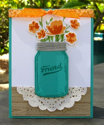Krystal's Cards: Stampin' Up! Jar of Love Online Card Class #stampinup #krystals_cards #jaroflove