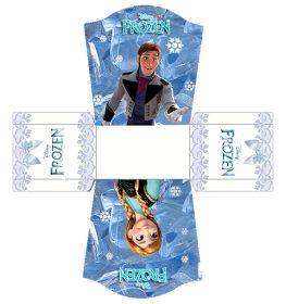 Frozen: Free printable Boxes.